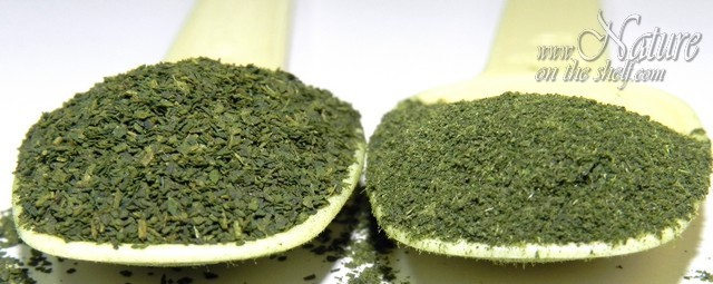 Coarse and fine fraction of nettle leaf powder