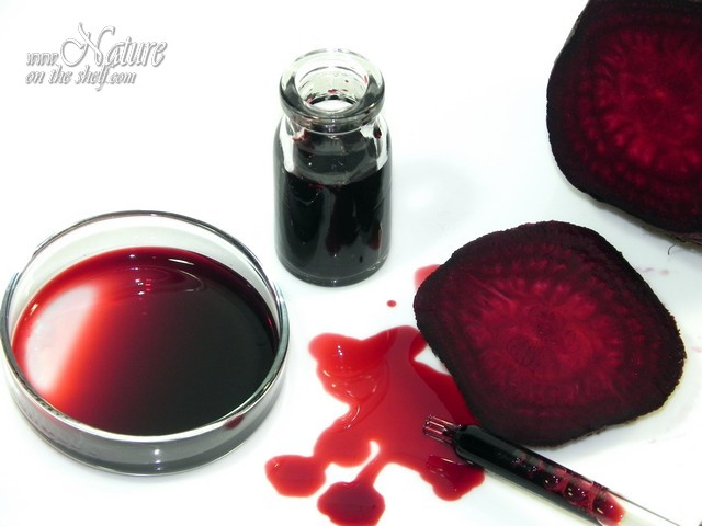 Homemade red beet natural colorant
